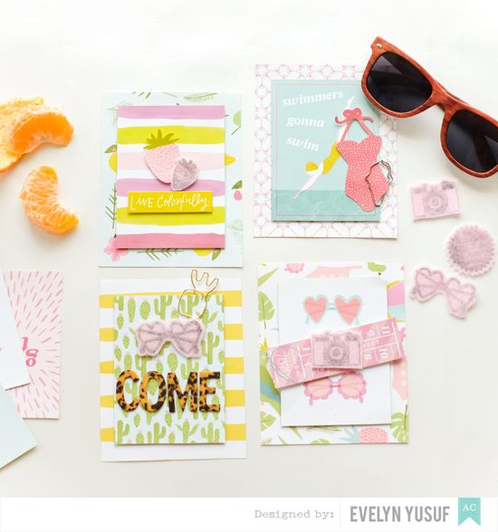 Summer invitations American Crafts Happy Place Dear Lizzy  Full by Evelynpy