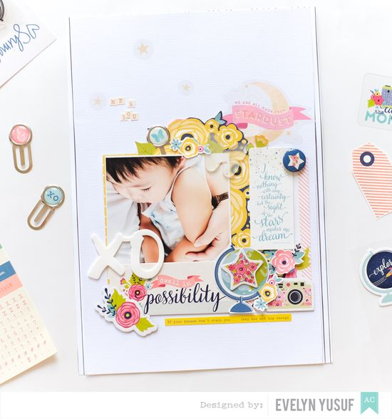 Spring Boy Layout American Crafts Cover by Evelynpy