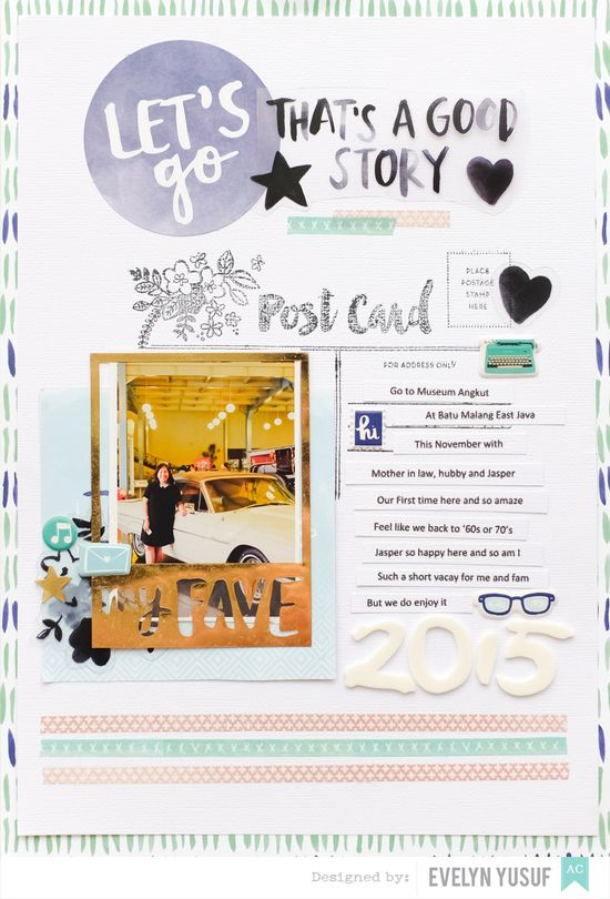 Travel Let's Go Amy Tangerine Better Together American   Crafts by Evelynpy Full