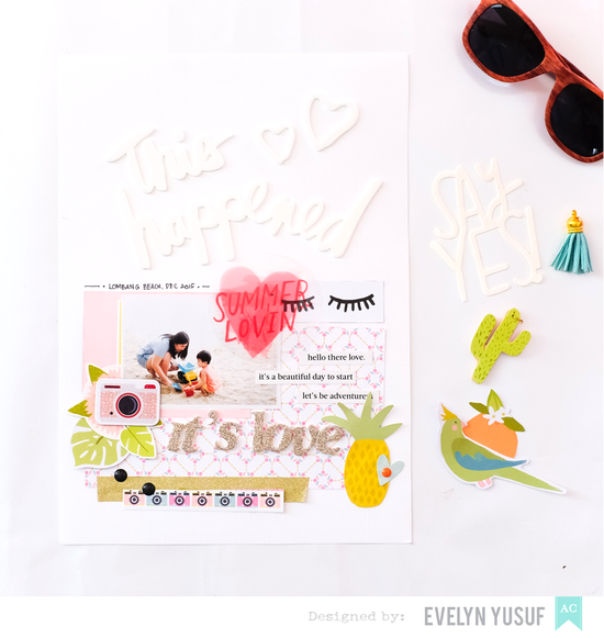 Hello-Summer-American-Crafts-Happy-Place-Cover-by--Evelynpy