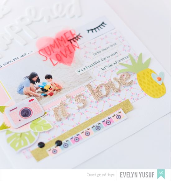 Hello Summer American Crafts Happy Place Details 2 by  Evelynpy