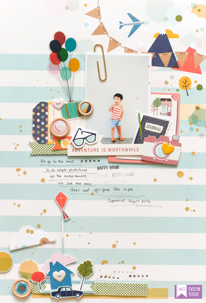 Everyday Life Full Layout by Evelynpy American Crafts   Shimelle