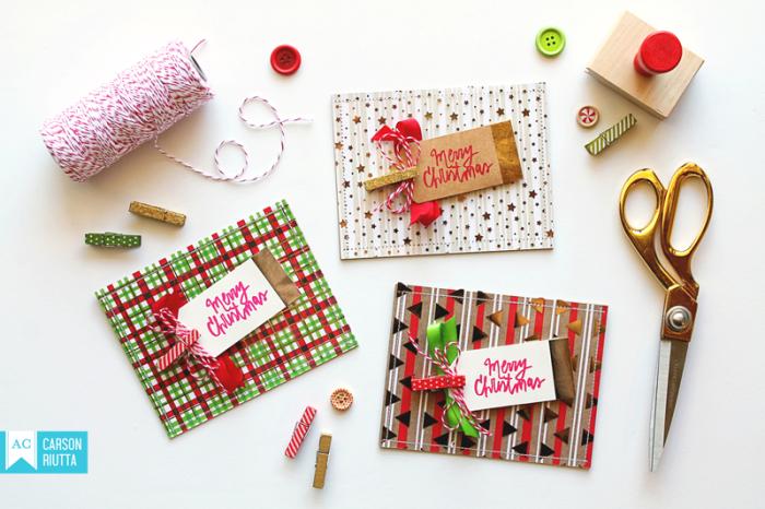 Foiled Christmas Cards 1