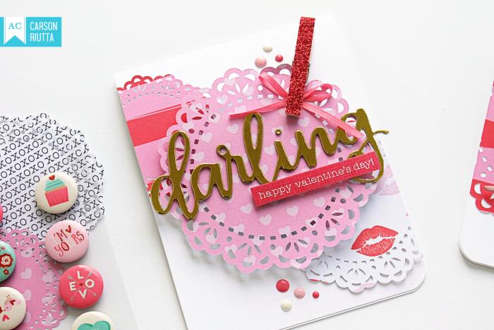 American Crafts Valentine Cards by Carson Riutta Darling