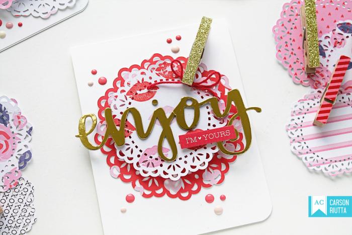 American Crafts Valentine Cards by Carson Riutta Enjoy
