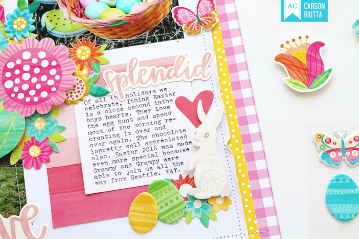 American Crafts Easter Scrapbook Layout by Carson Riutta 5