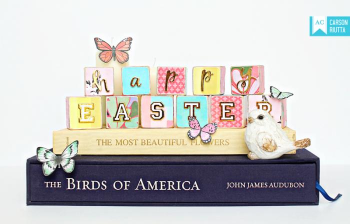 American Crafts Easter Block Home Decor by Carson Riutta 1