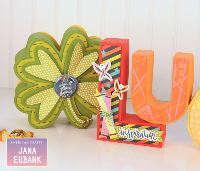 Jana Eubank - American Crafts - Shimelle - Box of Crayons - Lucky Letters 3 800