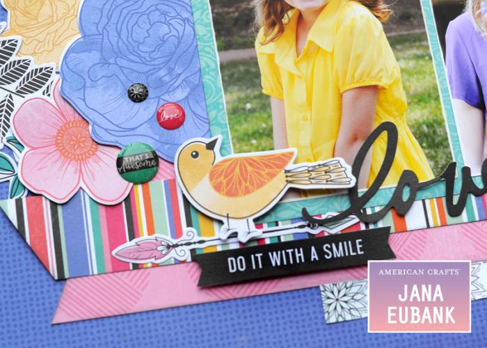 Jana Eubank - American Crafts - Vicki Boutin - All the Good Things - Life Is Good Scrapbook Page 5 800