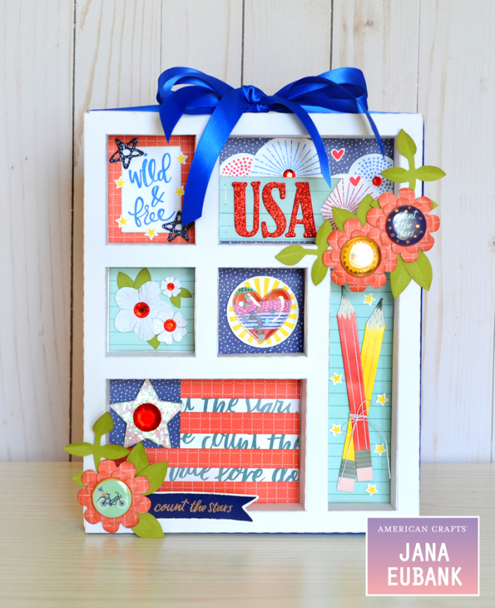 Jana Eubank American Crafts 4th of July Decor USA Shadowbox 4 800