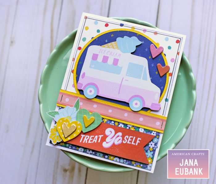 Jana Eubank American Crafts Dear Lizzy Stay Colorful Birthday Cards 2 800