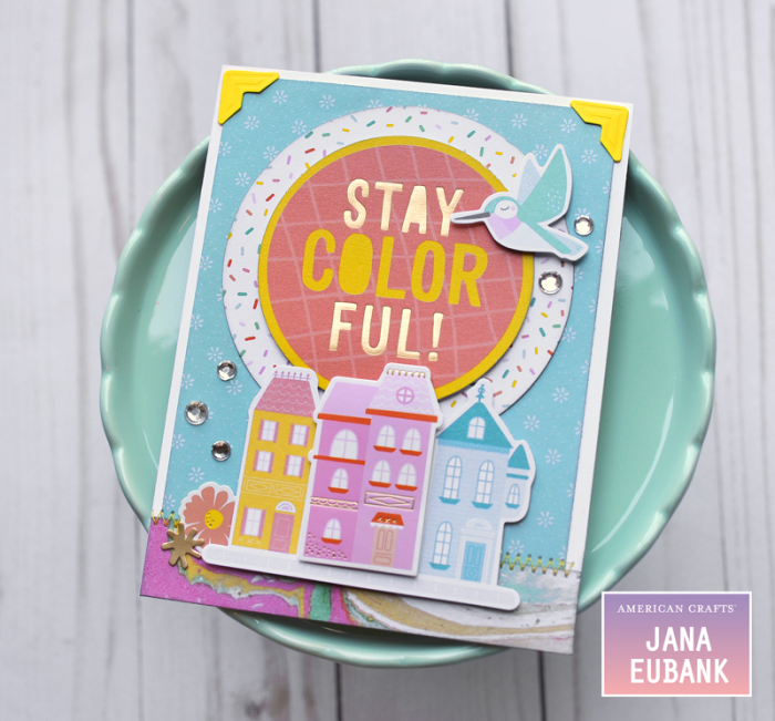 Jana Eubank American Crafts Dear Lizzy Stay Colorful Birthday Cards 4 800
