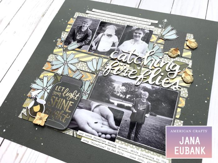 Jana Eubank American Crafts DIY Shop Fireflies Layout 4 800