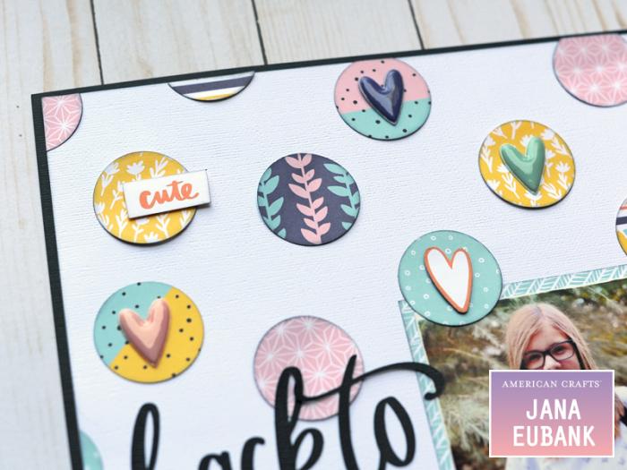 Jana Eubank American Crafts Amy Tangerine Shine On Back to School Layout 2 800