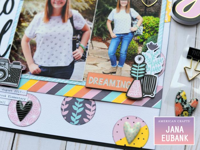 Jana Eubank American Crafts Amy Tangerine Shine On Back to School Layout 4 800