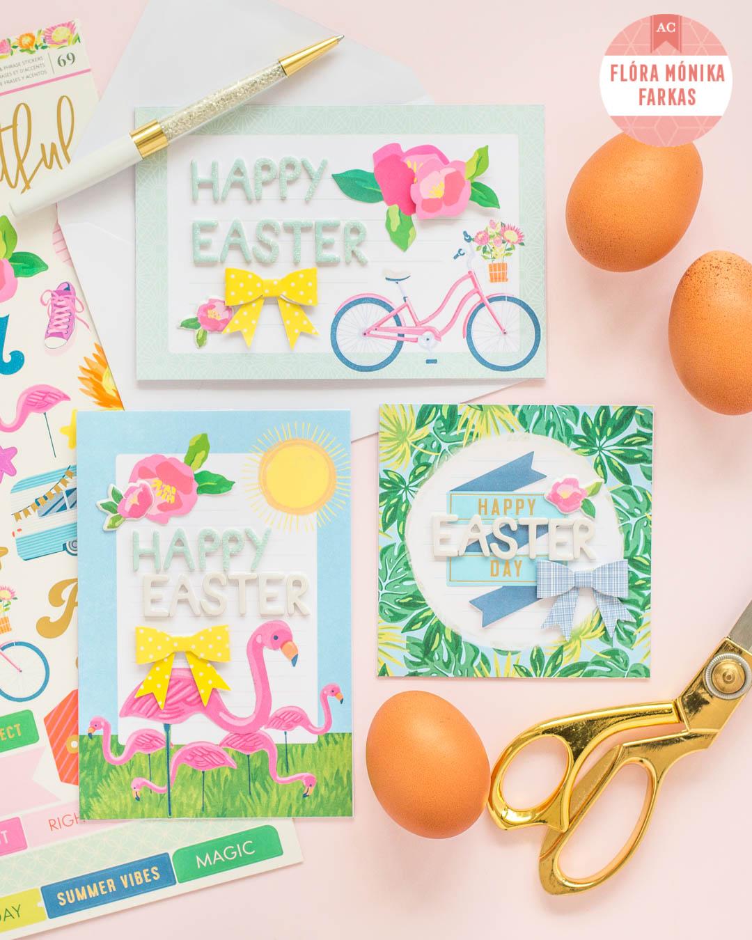 American Crafts Studio Blog An Adorable Easter Card Trio