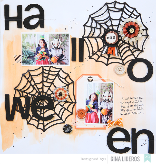 Gina Lideros Halloween Layout