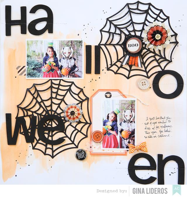 Gina Lideros Halloween Layout